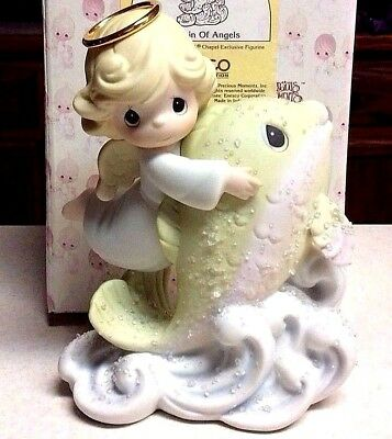 New Precious Moments Chapel Exclusive Fountain Of Angels With Box
