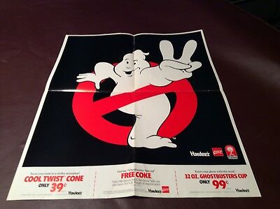 1989 Hardee's Ghostbusters Collector Poster Original