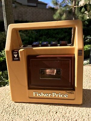 Vintage 1980 Fisher Price cassette tape player Model 826 For Parts Fixer upper