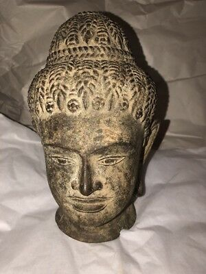 Ancient Bronze Chinese Buddha Head Old 19th C or earlier