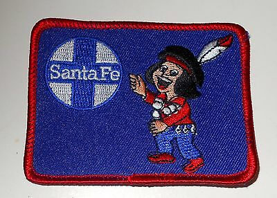 "Santa Fe  Embroidered Patch Train Railroad Railway RR 3-3/8"" Inch Blue Chico"