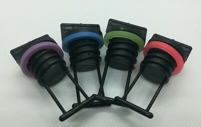 4 x Replacement Bungs Only Marine/Boat Drain Bung Plugs Coarse Thread 4 Pack NEW