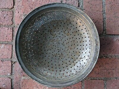 Antique Early 1900's Solid Copper Hand Made Persian Colander with tin coating
