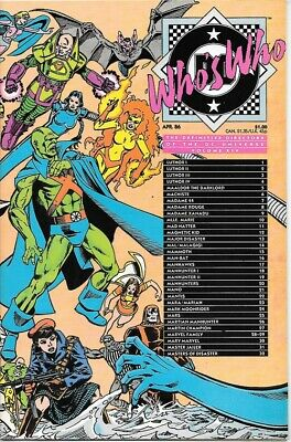 Who's Who Definitive Directory of DC Universe Comic Book #14 DC 1986 NEAR MINT
