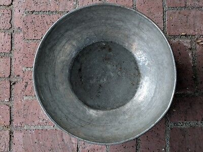 Antique Early 1900's Solid Copper Hand Made Persian bowl with tin coating