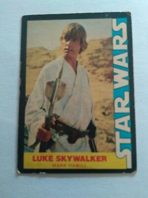 1977 Star Wars Luke Skywalker card in good condition.  Card ONE