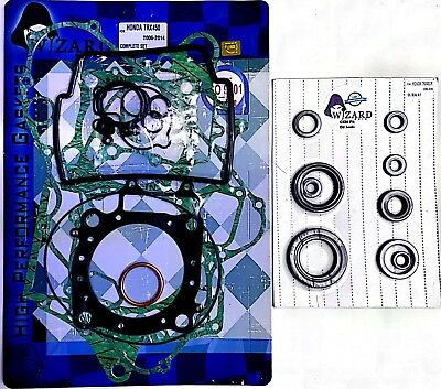 Honda TRX 450 R Complete Engine Gasket Set with Oil Seals 2006 - 2009 TRX450R