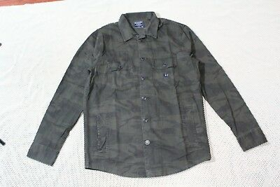 NWT Men Abercrombie & Fitch Military twill Shirt Jacket size M, L, XL Camo