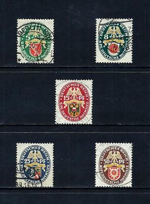 GERMANY _ 1929 'ARMS' SET of 5 _ used ____(519)