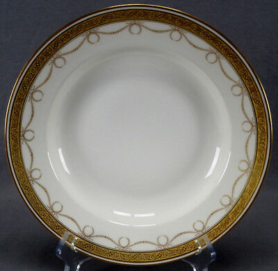 Set of 3 Hutschenreuther Neoclassical Gilt Wreath & Floral Encrusted Deep Plates
