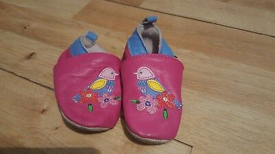 jojo maman bebe 6-12 months girl 100% leather shoes