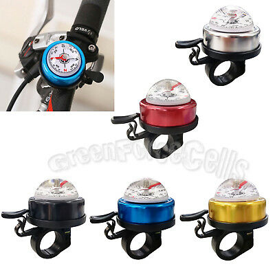 Metal Bicycle Bike Cycling Handlebar Compass Bell Ring Horn Alarm Loud Safety