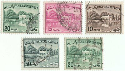 Pakistan 1962-70 5 x stamps from same series
