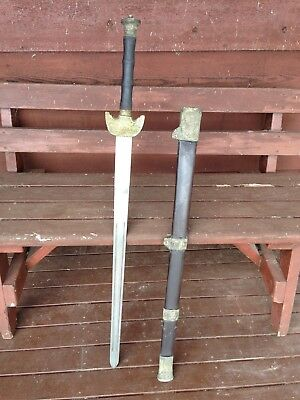 Antique Chinese long Jian -Two Handed Broad Sword.