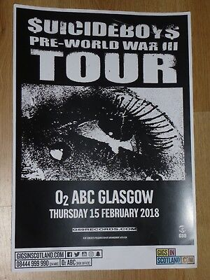 $uicideboy$ - Glasgow feb.2018 tour concert gig poster - Suicideboys