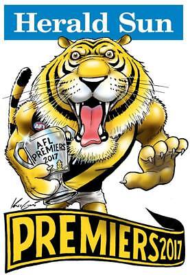 2017 MARK KNIGHT AFL GRAND FINAL PREMIERSHIP POSTER RICHMOND Tigers LIMITED ED