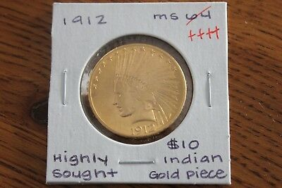 1912   Highly Sought  Unc+++  Indian Head $10 Gold Piece