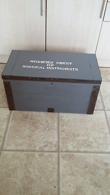 Military wooden chest - surgical supplies.