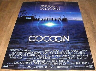 COCOON - Ron Howard / Don Ameche - AFFICHE D'ÉPOQUE 120cm/160cm (1985)
