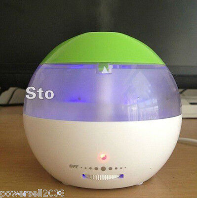 New Mini USB Green Humidifier LED Household Humidifying Aroma Air Purification