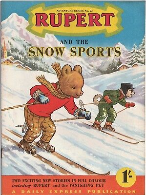 RUPERT Adventure Series No 23 Snow Sports February 1955 VERY FINE