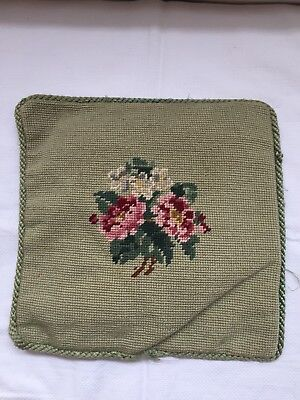 Vintage Tapestry Small Chair Cushion 28cm x 28cm