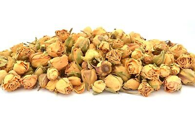 Ivory Rose Buds, Dried Flowers Craft Tea Potpourri Soap Candle Decor 5g - 250g
