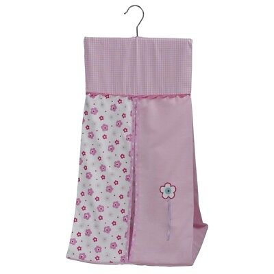 Bed-e-Byes Purfect Nappy Stacker, Baby Diaper Holder, Cotton Pink Nappy Stacker