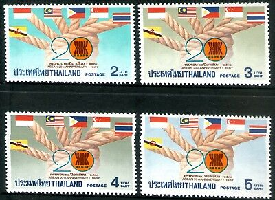 Thailand 1987 ASEAN Anniversary set of 4 Mint Unhinged