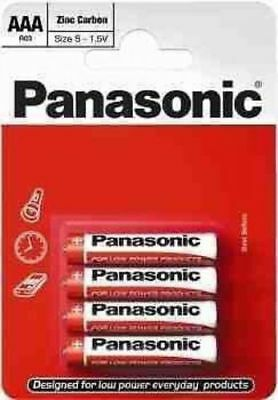 Panasonic Ultra Power Zinc Carbon Aaa Batteries 4 Pack