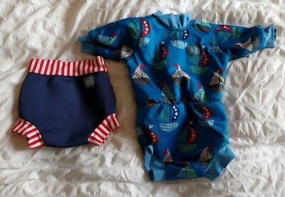 splash about happy nappy wetsuit large and happy nappy medium