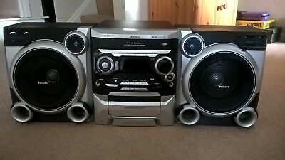 Philips MP3 Mini Hi-Fi Stereo System FWM377 with 3 CD Changer and USB Rip All