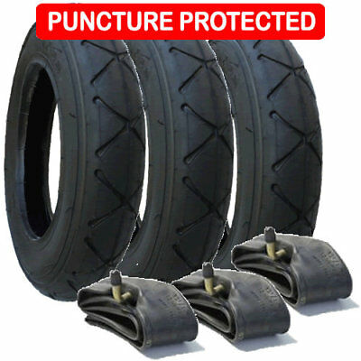 Mountain Buggy Swift Tyres & Inner Tubes Set of 3 size 10 x 2 Puncture Protected