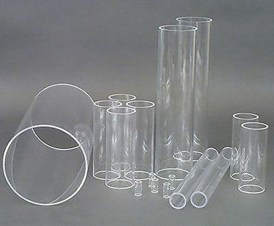 Clear Acrylic Round Tube Perspex Hollow Plastic Pipe Transparent SALE