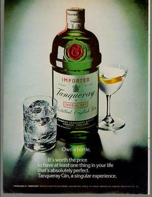1979 Tanqueray English Dry Gin Own a Bottle Liquor Drink Vintage Print Ad 1970s