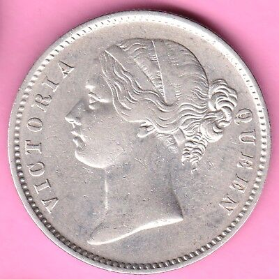 British India-1840-Divided Legend-One Rupee-Victoria Queen-Rarest Silver Coin-7