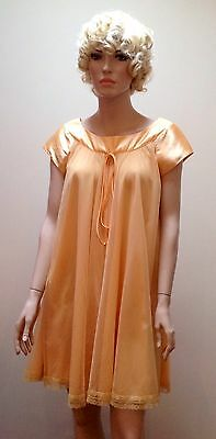 1960S Peach Lucie Ann Of Beverly Hills Baby doll Negligee