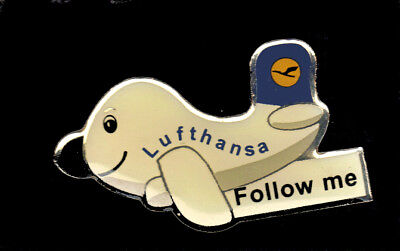 Lufthansa airlines pin Follow me