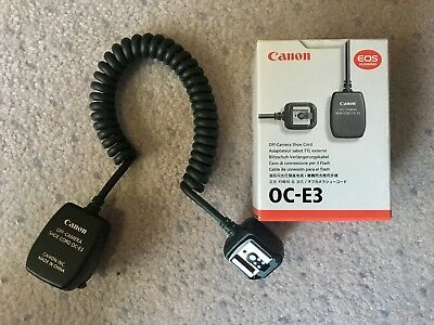 Canon Oc-E3 Off-Camera Shoe Cord Genuine
