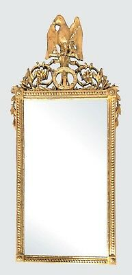 Important Federal Period American Antique Mirror With Eagle & 13 Star Shield