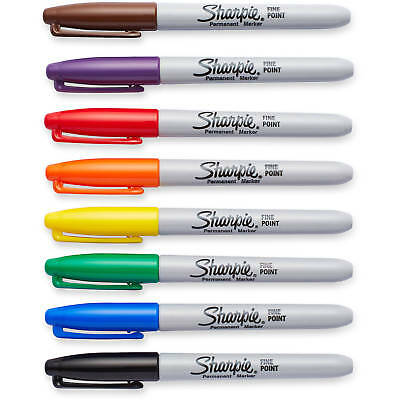 Sharpie Permanent Markers, Fine Point Pens - Black Red Blue Green Gold Silver