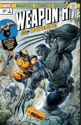 Weapon H 1 Marvel Clayton Crain Incredible Hulk 181 Homage Variant Wolverine