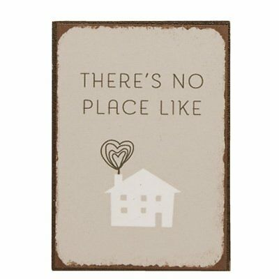 Magnet THERE'S NO PLACE LIKE HOME 5x7cm / Metallschild, Schild