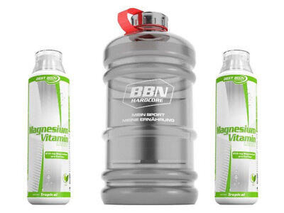 2 x Best Body Nutrition - Magnesium Liquid 500 ml Flasche + 1 XXL Water Gallone