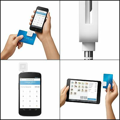 Card Reader Square Magnetic Chip Mobile Machine iPhone iPad Android Credit Card.