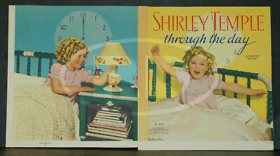 RARE 1936 Shirley Temple Through Day Saalfield Front Back Cover Printer's Proof