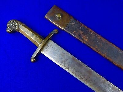 Antique German Germany British English Early 19 Century Large Pioneers Sword