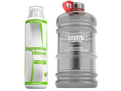 Best Body Nutrition - Magnesium Liquid 500 ml Flasche + 1 XXL Gallone von BBN