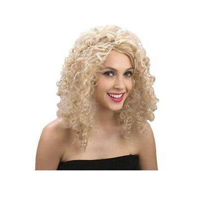 Ladies Short Blonde Curly 60s 70s 80s Disco Diva WIG Fancy Dress