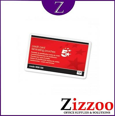 Credit Card Sized Laminating Pouches 250 Microns 54 X 86Mm Pack Of 100